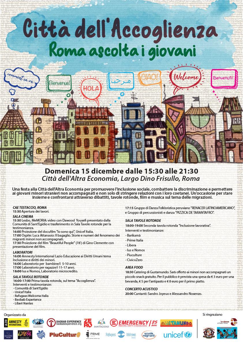 Citta dell'Accoglienza - Roma ascolta i giovani